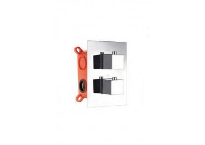 grifería termostática cromada con box de registro