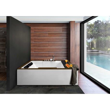 Bañera ROMA sin hidromasaje con madera y faldones