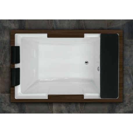 Bañera ROMA sin hidromasaje con madera 185x120