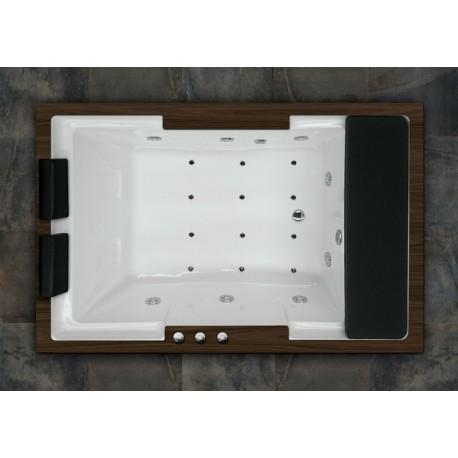 Bañera ROMA 185 x 120 doble sistema y madera