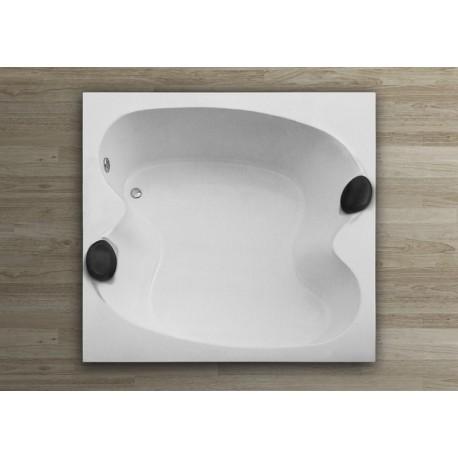 Bañera MALAGA sin hidro 170x170 con reposcabezas