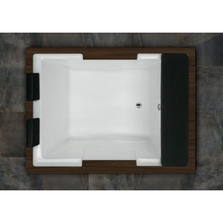 Bañera ROMA sin hidromasaje con madera 190x165