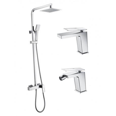 Conjunto completo barra ducha SAUCE cromo