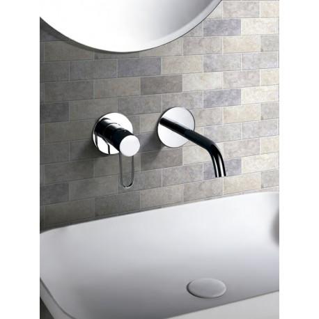 Grifería empotrada lavabo serie MILAN cromo-ambiente