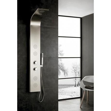 Columna de acero inoxidable mod. ITACA termostática ambiente