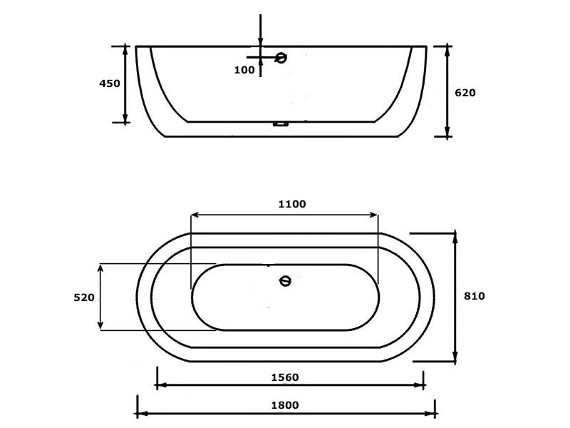 Ba eras exentas modelo lima 180 x 81 faldon integrado en ba era - Banera a medida ...
