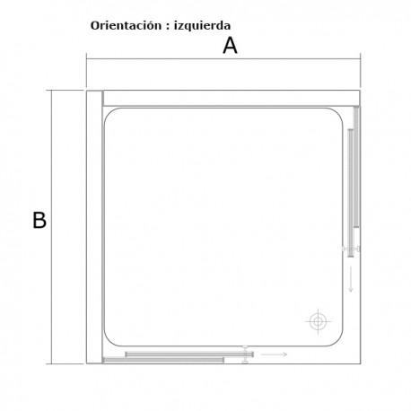 Cabina cuadrada CRETA orientacion izquierda