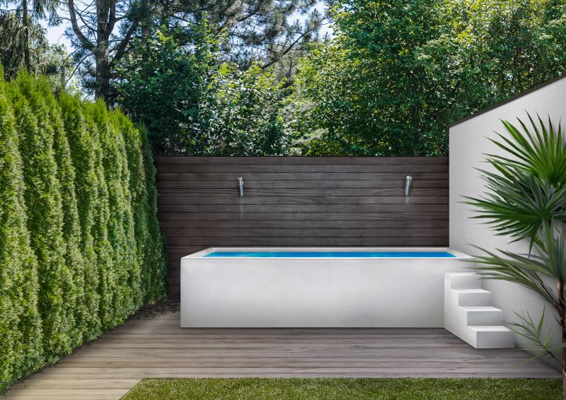 Mini piscina en terraza de adosado