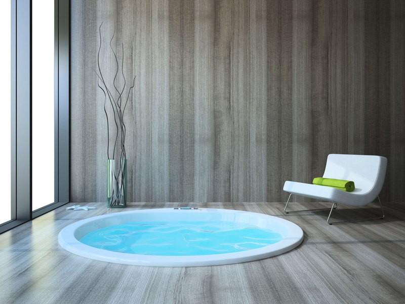 bañera hidromasaje redonda