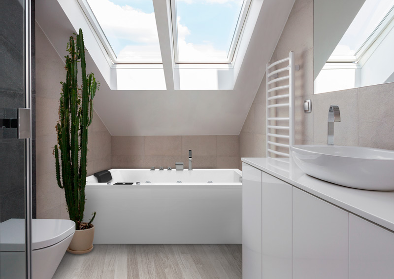 Onix en baño pequeño